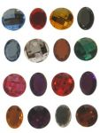 Ronde en Ovaalvormige plaksteentjes doorsnee 25mm assortie van 25 stuks