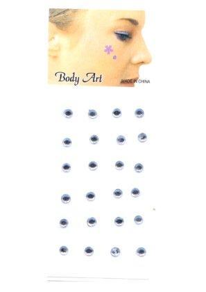 Plaksteentje puntje zilver 14417