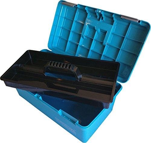 Kunststof Schminkkoffer Blauw leeg NH990377