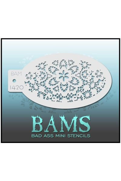 Bad Ass Stencil Mini BAMS Flowers 42964