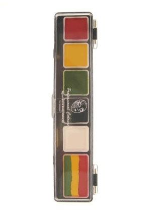 PartyXplosion schmink palet Limburg colours art.nr.43685