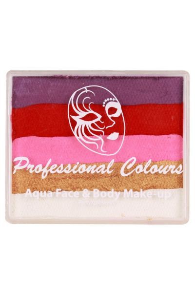 Rainbowcake groot / Bodycake PartyXplosion Violet /Red/Pink/Pearl Gold/White 50 gram 43948