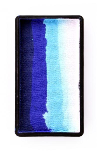 PartyXplosion Splitcake block DonkerBlauw / Blauw / Licht Blauw / Wit (28gr) 43343