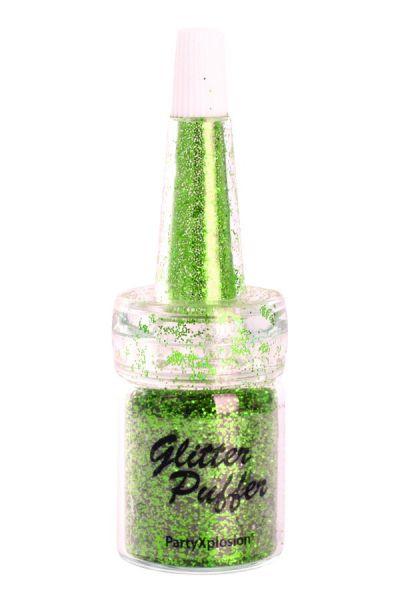 PartyXplosion Glitter Puffer Groen 43597