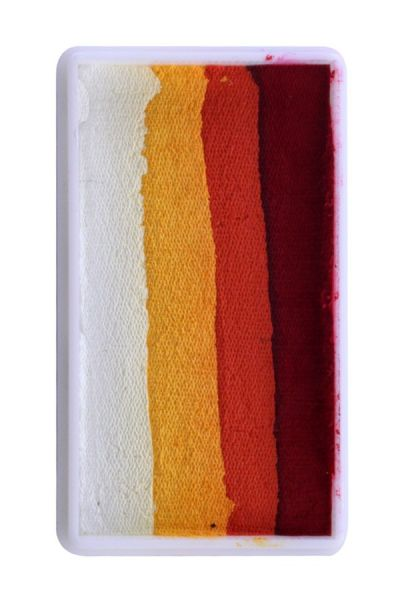 PartyXplosion Splitcake block Red / Orange / Yellow / White (28gr.)43336 =Burning Sun / Halloween