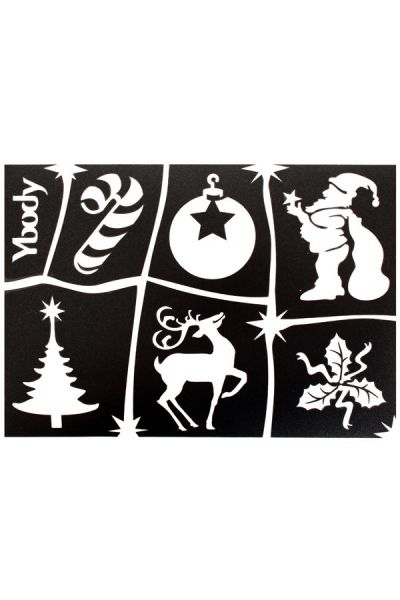 Glittertattoo sjablonen A5 vel thema Kerstmis / Christmas 41988