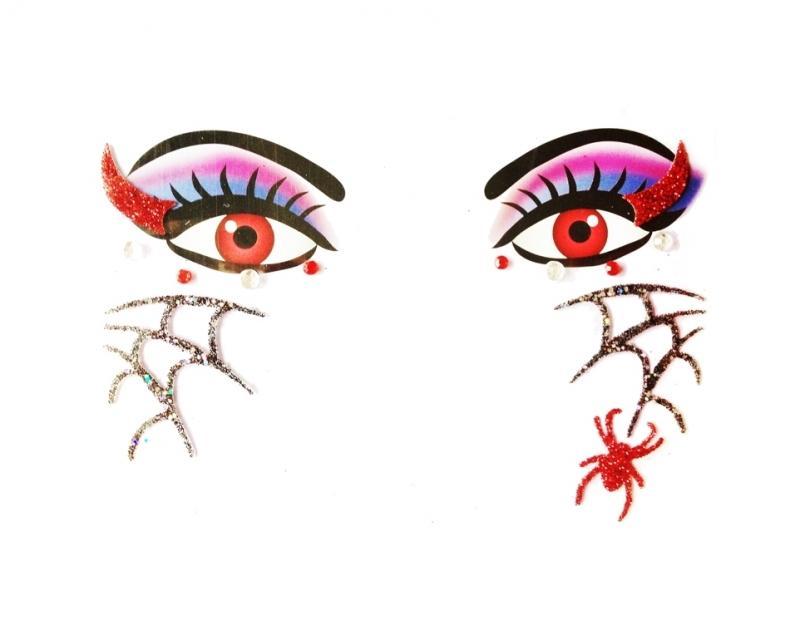 Glitterstickers Halloween/Griezel Duivel 14424