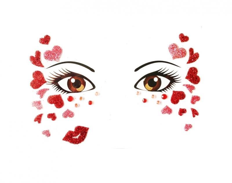 Glitterstickers Hart / Heart 14423
