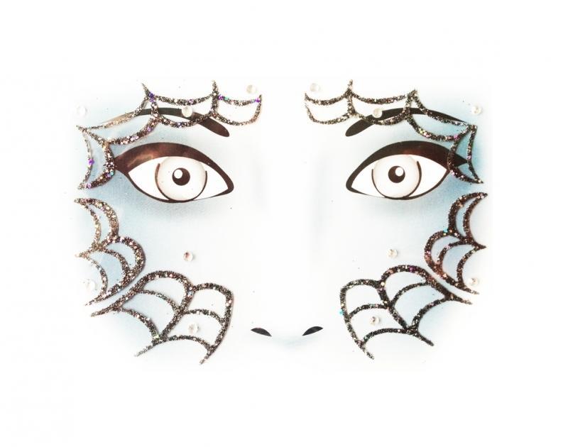 Glitterstickers Halloween/Griezel Spinnenweb