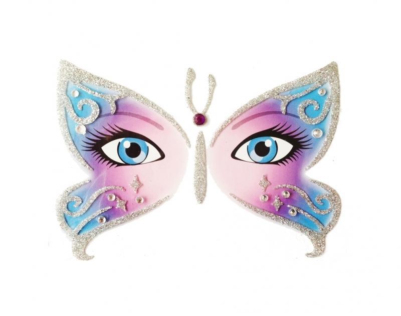 Glitterstickers Vlinder / Butterfly