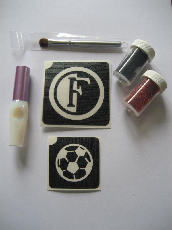 Glittertattoo set Feyenoord