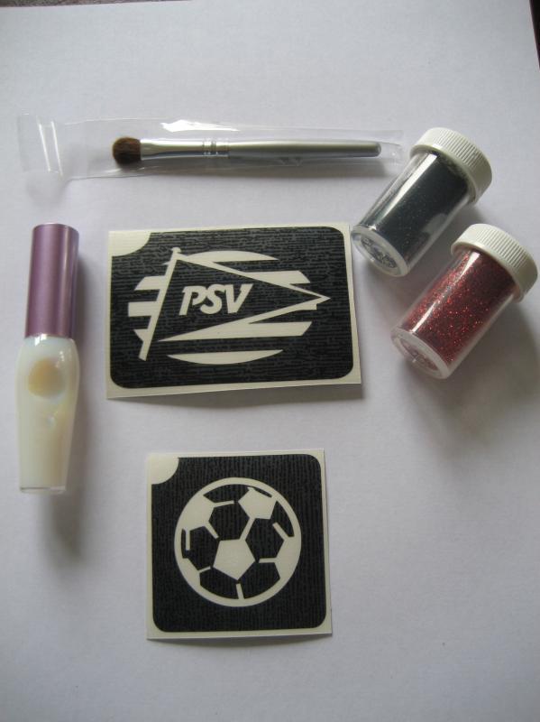Glittertattoo set PSV