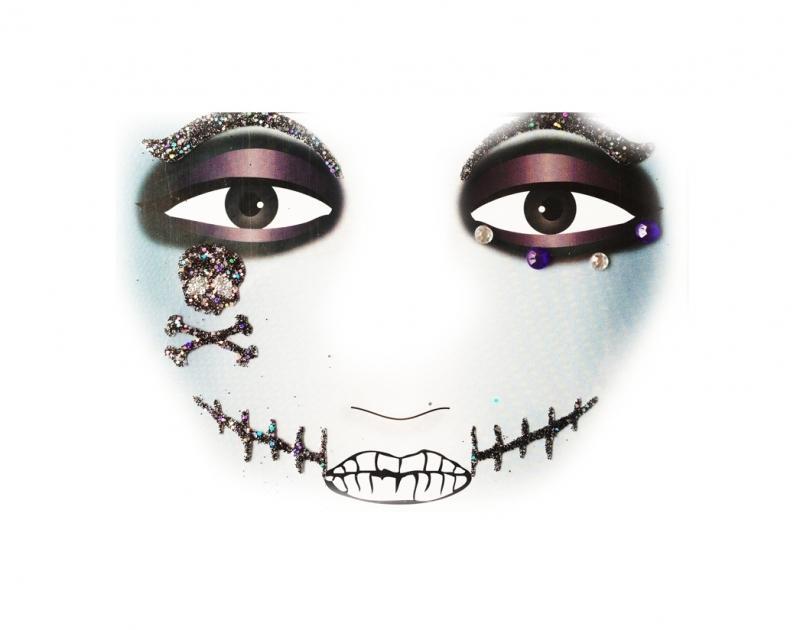 Glitterstickers Halloween/Griezel Piraat 14424