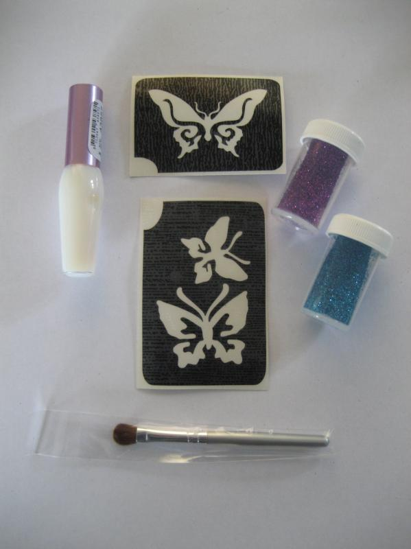 Glittertattoo set Vlinders