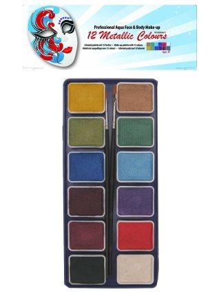 PartyXplosion schminkpalet Metalic type B art.nr.43689 OP=OP
