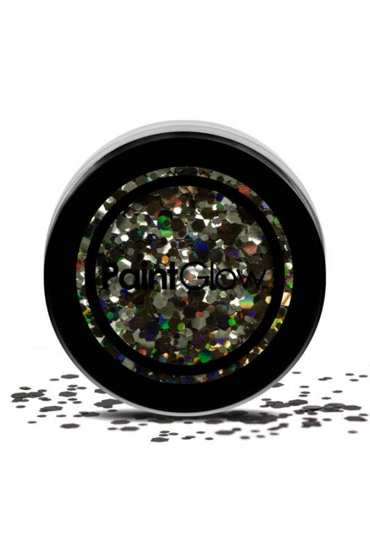 Paint Glow : Chunky Glitter BLACK ENCHANTRESS 3 gram 43051