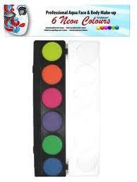 PartyXplosion schminkpalet 6 Neon kleuren art.nr 43611
