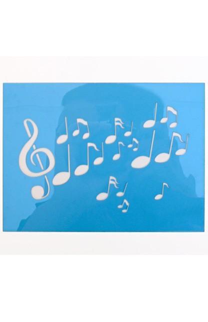 PartyXplosion schminksjabloon Muzieknoten art.nr.43985