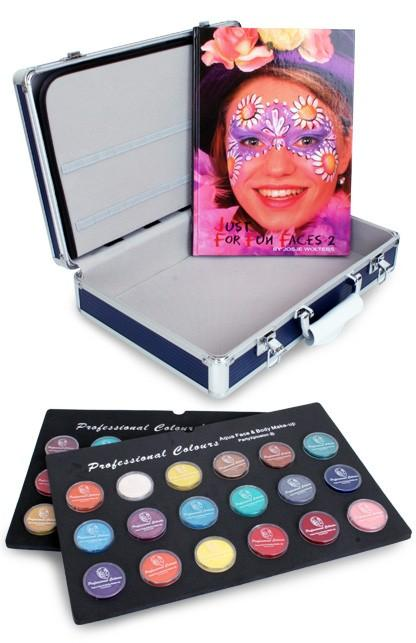 Schminkkoffer PartyXplosion 36x10gr. schmink 43574 + gratis Schminkboek Just For Fun Faces deel 2