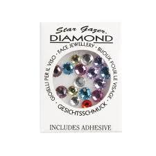 Stargazer Multi kleurige Face diamonds incl.lijm 40896