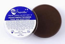 Superstar schmink 16 gr (zwarte pieten) bruin 40357